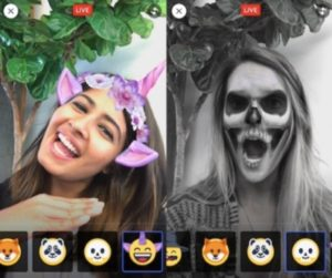mascaras para fotos y videos en facebook messenger