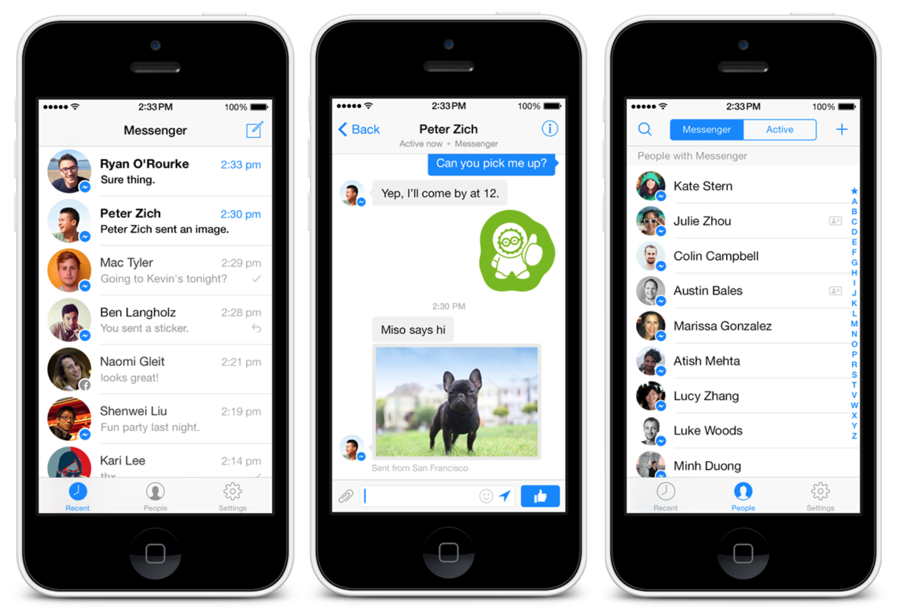 descargar facebook messenger iphone