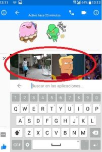 compartir gifs animados en facebook messenger